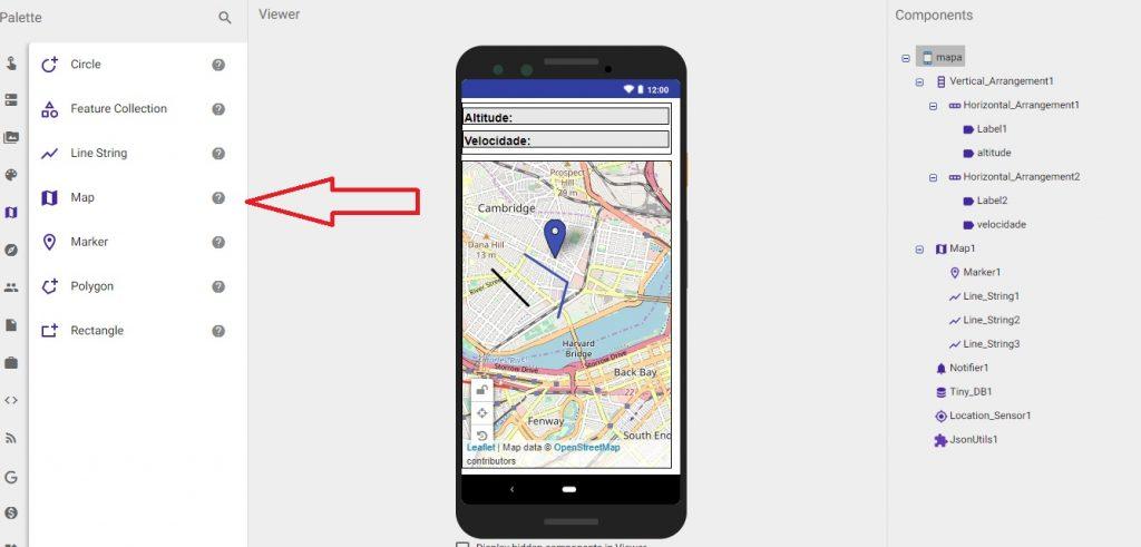 mapas kodular app inventor