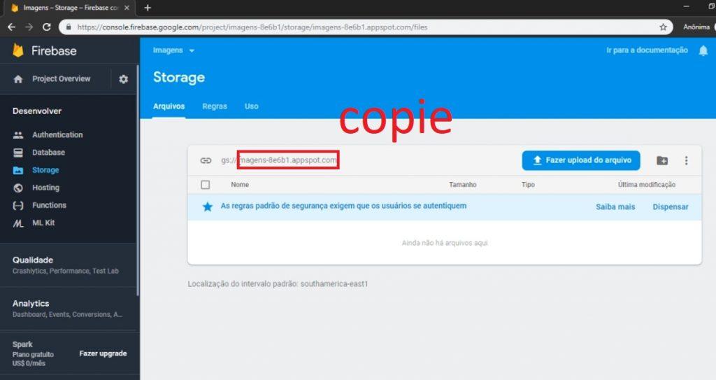 storage firebase imagens kodular