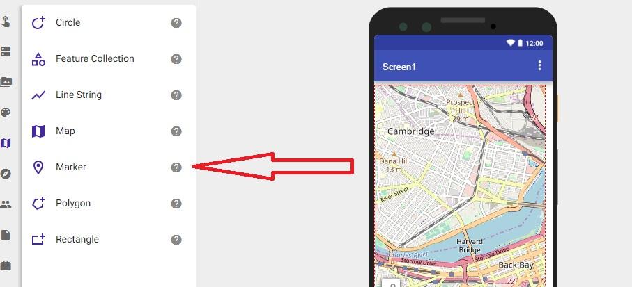 como colocar um mapa no app inventor